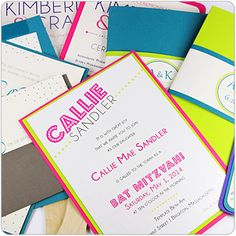 Make Your Own Colorful Invitations With Pop'Set Paper