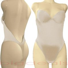 Low-Back Bras for Backless Dresses | Backless-Full-Body-Shaper-Convertible-Thong-34C-Seamless-Low-Back-Nude ...