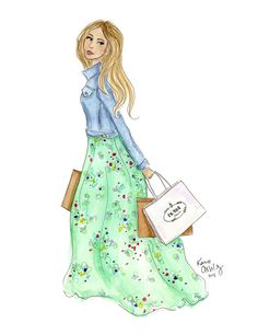 Lilly Goes Shopping by KaraEndres on Etsy