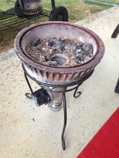 Home made forge from brake drum