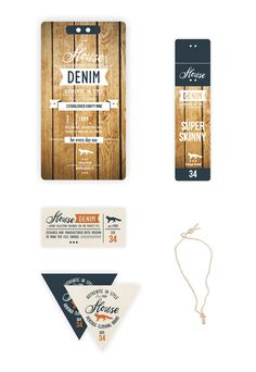 Denim Swing Tag & Label ///part A by Anna Maja Czech, via Behance