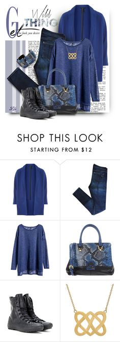 """Tricky Trend: Patchwork Denim"" by fashion-architect-style ❤ liked on Polyvore featuring Dorothy Perkins, rag & bone, H&M, Braccialini and Converse"