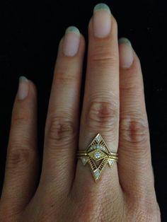 OMG Love love LOVE!!! Giza Portal Ring by dmdmetal on Etsy