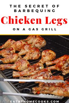 Secret of Barbecuing Chicken Legs on a Gas Grill This is the secret to barbecuing the perfect chicken legs on a gas grill!This is the secret to barbecuing the perfect chicken legs on a gas grill! Grilled Chicken Drumsticks, Grilled Chicken Legs, Bbq Chicken Legs, Chicken Leg Recipes, Barbecue Chicken, How To Cook Chicken, Drumsticks On The Grill, Chicken On The Grill, Grilled Food