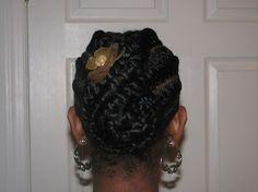 Photo: Flat Twist Updo | September/October 2010 album | ForeverCurlyCatrina | Fotki.com, photo and video sharing made easy.