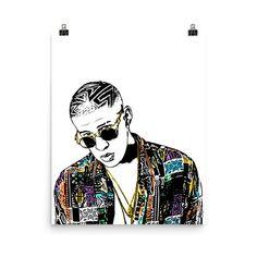 BAD BUNNY 24X36 POSTER WALL ART DECOR RAPPER POP ARTIST LATIN HIPHOP GIFT NEW!!!