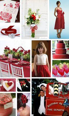 red wedding inspiration board