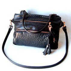 Willow-Tasche in schwarz - neu - rose gold hardware
