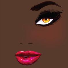 Magenta lips — Vector illustration