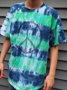Peace Sign Tie Dye Shirt XL from Anything on a Tie Dye at Creations by Maris www.creationsbymaris.etsy.com