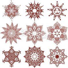 henna snowflake - Google Search
