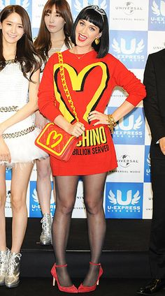 Katy Perry, de Moschino (otoño-invierno 2014-2015).