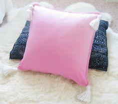 Pink Ombre Tassel Pillow - Shibori > new in the shop < bylafeliz.com