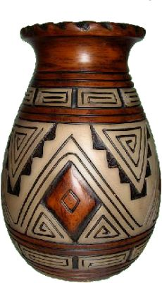 African Pottery, Native American Pottery, Pottery Painting Designs, Pottery Designs, Pottery Sculpture, Pottery Vase, Bottle Painting, Bottle Art, Ceramic Painting