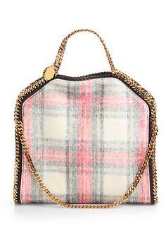 Opt for a tartan accessory this autumn/winter #tartan #tote #stellamccartney