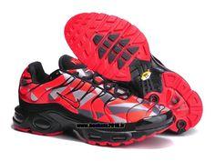 Boutique Officielle Nike Air Max TN Tuned Chaussures Pas Cher Pour Homme Rouge - Gris - Noir