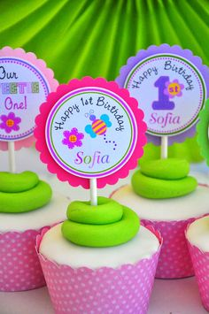 Hugs & Stitches Cupcake Toppers by thepaperkingdom on Etsy, $10.00
