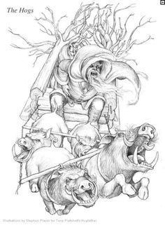 The Hogfather's Hogs - Hogfather by Stephen Player. Sir Terry Pratchett Discworld.