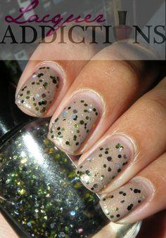 Funky Nails- Fatigues (glitter topcoat)