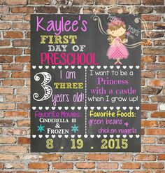 First day of School/Back to school by PebblesnPearlsDecor on Etsy