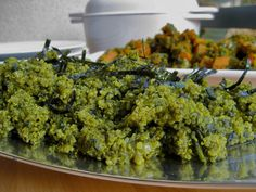Vegan Green Quinoa Pilaf with Spinach and Nori