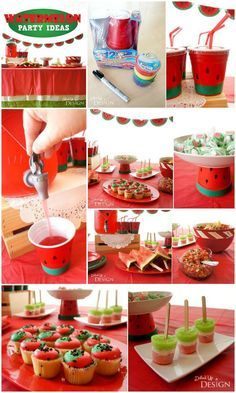 Watermelon Party Ideas - clever DIY watermelon craft & party ideas.
