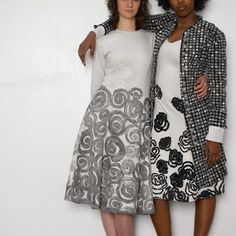 spiral and rose dresses. alabama chanin.