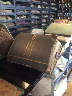 Books from the Archive of Gainsborough Silks over 100 years old.