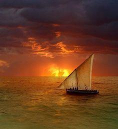 navigation at dawn -
