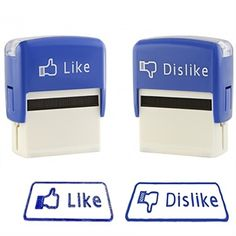 Like Dislike Rubber Stamps