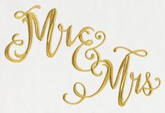 Mr. and Mrs. Script | Urban Threads: Unique and Awesome Embroidery Designs