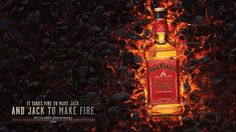 Jack Daniels: It Takes Jack to Make Fire. Agency: Arnold Boston. Client: Jack Daniels. Photography/CGI/Post: Taylor James.