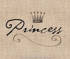 Princess Printable Image for Girls Room Nursery No.203