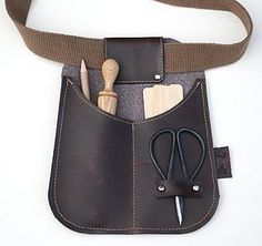 Recycled Leather Garden Belt Pouch - gifts for men