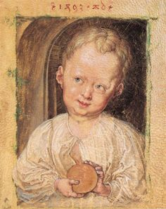 "Albrecht Dürer, ""Boy with globe"", 1493"