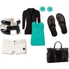 Love turquoise, perfect summer night outfit.