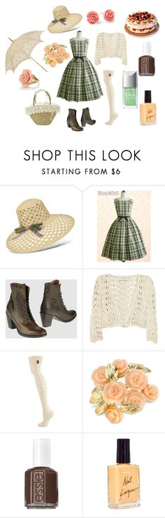 """""""Sailor Jupiter"""" by kurenai87 ❤ liked on Polyvore featuring Borsalino, Moma, PATH, Clare Tough, Urban Knit, AZ Collection, Betsey Johnson, Essie, American Apparel and country"""