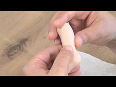 Dolls making tutorial. How to sculpt a doll's  foot, part 1(Polymer clay)
