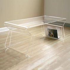 Baxton Studio Clear Acrylic Coffee Table Fay 9948
