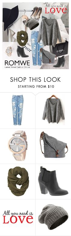 """""""Sweater"""" by aida-1999 ❤ liked on Polyvore featuring Topshop, Chanel, Gucci, Athleta, Carlos by Carlos Santana, Aiayu, women's clothing, women, female and woman"""
