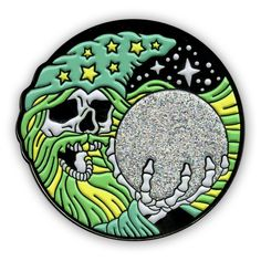 This WIZARD Glow-in-The-Dark AND Glitter Lapel Pin is our most ambitious pin yet!.... Glitter and Glow are two things that we love here at Night Watch Studios, so we couldn't miss the chance to combine such powerful forces onto one 1.5 inch lapel pin.Buy this pin and blow your friends' minds!