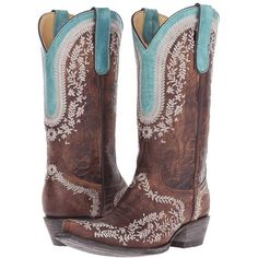 Old Gringo Bengala (Brass) Cowboy Boots ($285) ❤ liked on Polyvore featuring shoes, boots, mid-calf boots, western boots shoes, western style boots, cowgirl boots, floral boots and tan mid calf boots