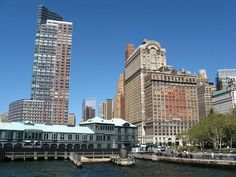 Pier A, Battery Park, Lower Manhattan From Water Taxi, New York,