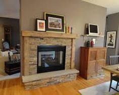 painted wood wall and brick fireplace - Google Search