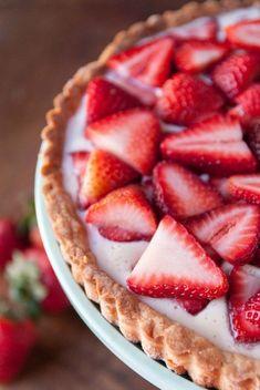 Vegan Strawberry Coconut Cream Tart