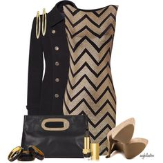 """Stripes and Shine Contest"" by angkclaxton on Polyvore"