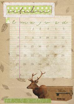 imprimible: calendario de octubre | milowcostblog♥