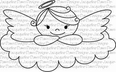 Your place to buy and sell all things handmade Angel on a cloud – digital stamp Cloud Drawing, Angel Drawing, Embroidery Patterns, Cross Stitch Patterns, Ribbon Embroidery, Machine Embroidery, Jace, Baby Applique, Handmade Angels
