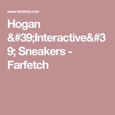 Hogan 'Interactive' Sneakers - Farfetch