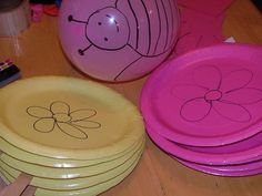 balloon paddle game...Very simple yet would be lots of fun for a younger childs birthday party.